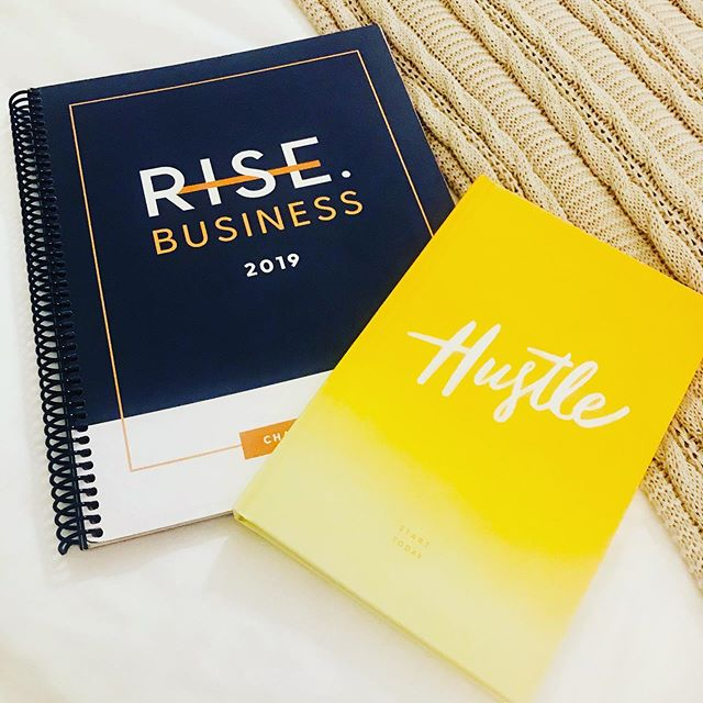 I truly could not have a happier heart after leaving day three of @letsrise.co Rise Business CHARLESTON. This blue book is filled with wisdom from the INCREDIBLE, and I mean...blow your mind...over the top...AMAZING speakers from these three days. I love how they delivered their message for business owners of all levels and I am TRULY EXCITED to dig into my notes and apply what we learned and LEVEL UP! This past year has been filled with challenges both personally and professionally. It's been a rough one but as Rachel says...you gotta RISE BACK UP GIRL...walk through the valley...if you fall down...get back up and keep climbing that mountain! Feeling deep GRATITUDE for all of the speakers who shared their stories, insights, passion, failures, love, faith, life changing events and the truth that being a business owner is freaking HARD. But as long as we keep RISING UP with each failure and leveling up each time by learning more and doing better and doing it with more heart...we will be living our best life and someday look back on our life and know that we chased our dreams and became the humans we wanted to be. Let's RISE friends. And sign up for her next one because...she's on the way to becoming the next Ellen. #truth #risebusiness #rise #hollisco #charelston #rachelhollis  #risebusiness2019 #grateful