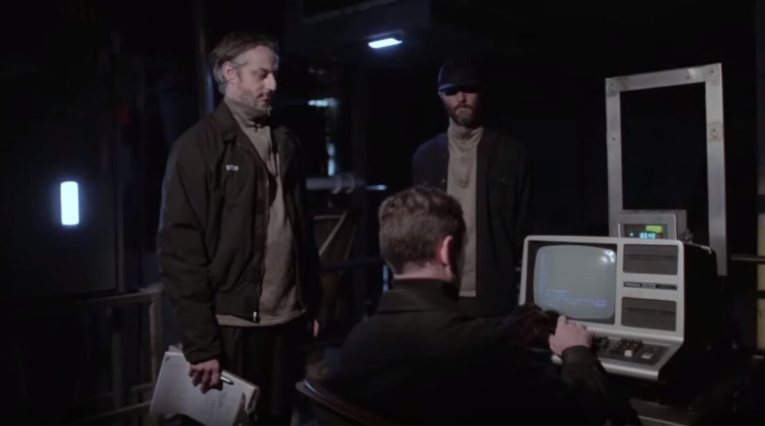 "Hoyt acquired the computer at a flea market. ""If you know that font and that blinking cursor, then you know that there's a TRS-80 in the video. I didn't even pay for it. And then we plugged it in and it worked."""