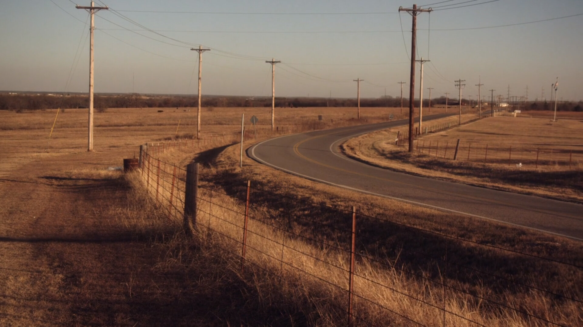 """Footage of Madill, Oklahoma, from the """"Seasons"""" music video."""