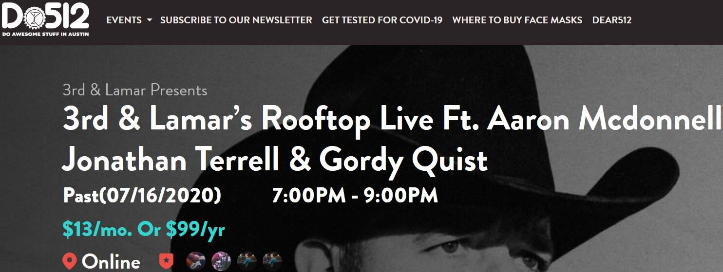 Do512 created an event listing page for 3rd & Lamar's Rooftop Live. We also created event pages on Facebook and  Eventbrite to generate awareness.