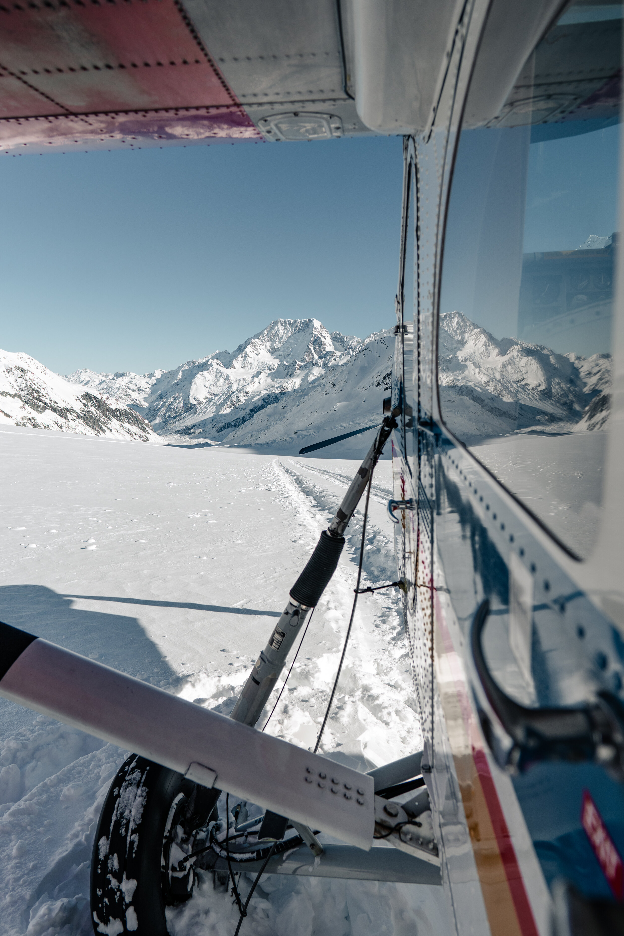 Mabey Ski_New Zealand_Mt Cook Ski Planes and Helicopters_Ski Plane on the Tasman Glacier_1.jpg