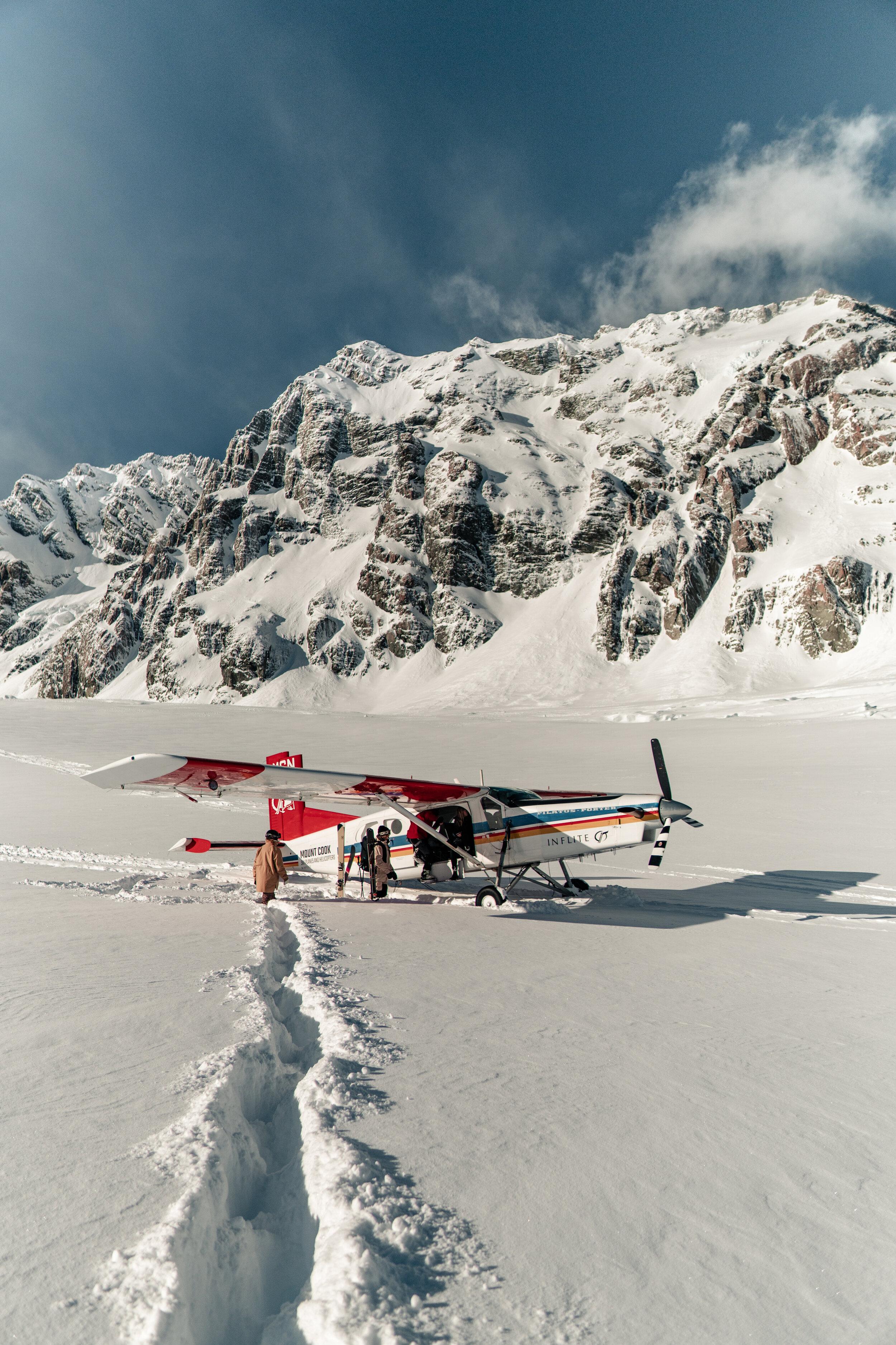 Mabey Ski_New Zealand_Mt Cook Ski Planes and Helicopters_Ski Plane on the Tasman Glacier_2.jpg