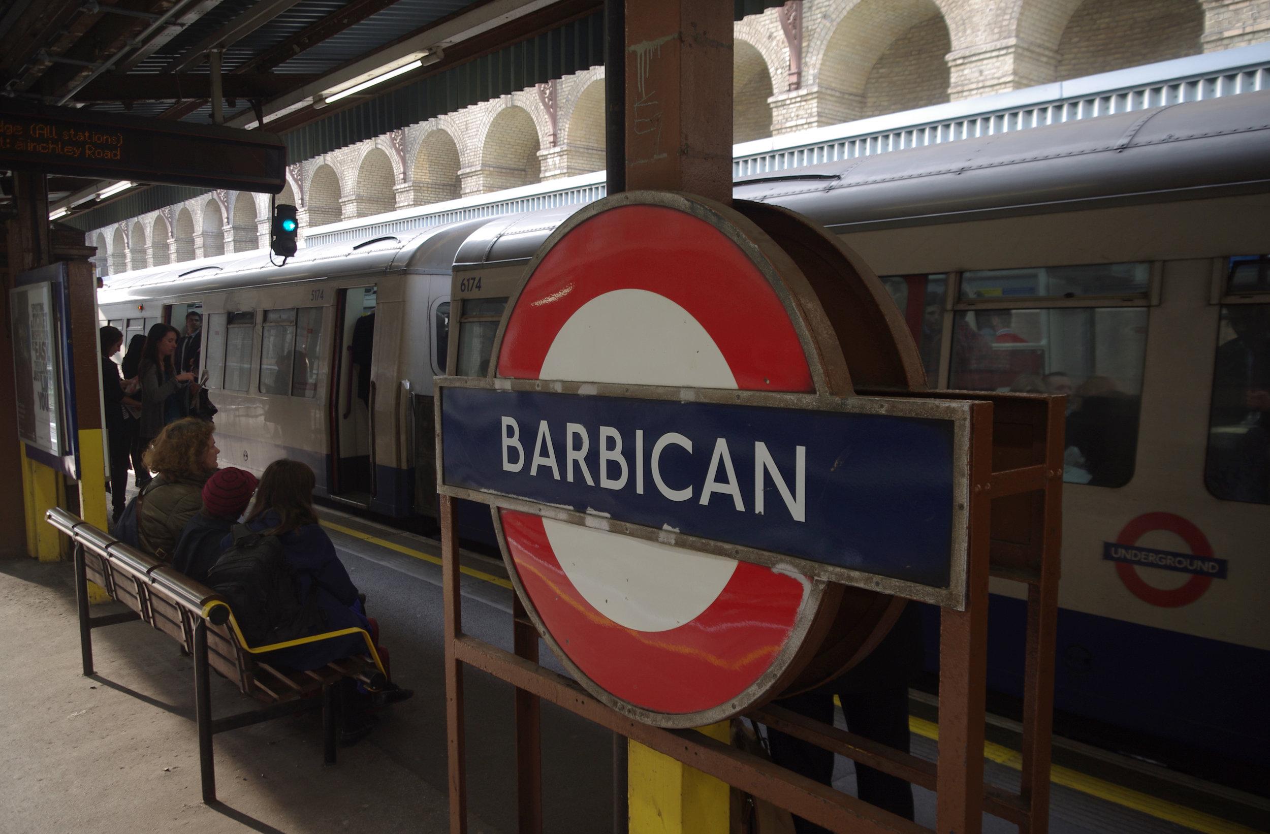 Barbican Underground Station, London