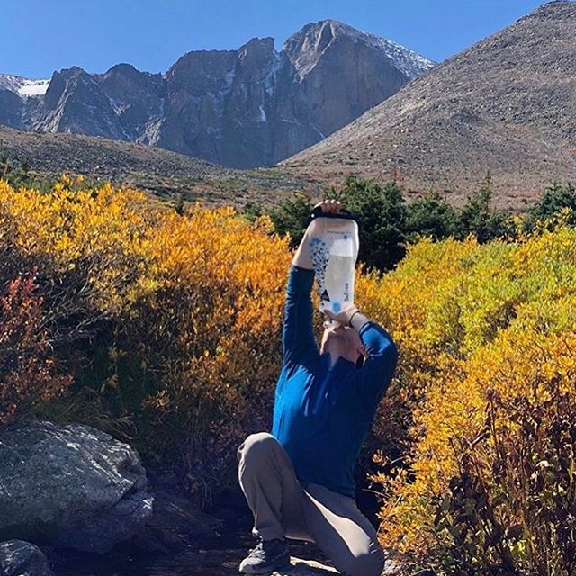"""""""One weak ago, I summitted Long's Peak. At 14,259 Ft., it's the tallest point in the Rocky Mountain National Park. ... The @katadyn_group water filter kept our crew hydrated and happy on the way down, refilling the thermos with fresh water."""" @unitedworldchallenge — #katadynbefree #waterfilter 3.0L #shareourpassion #fortheoutdoors"""