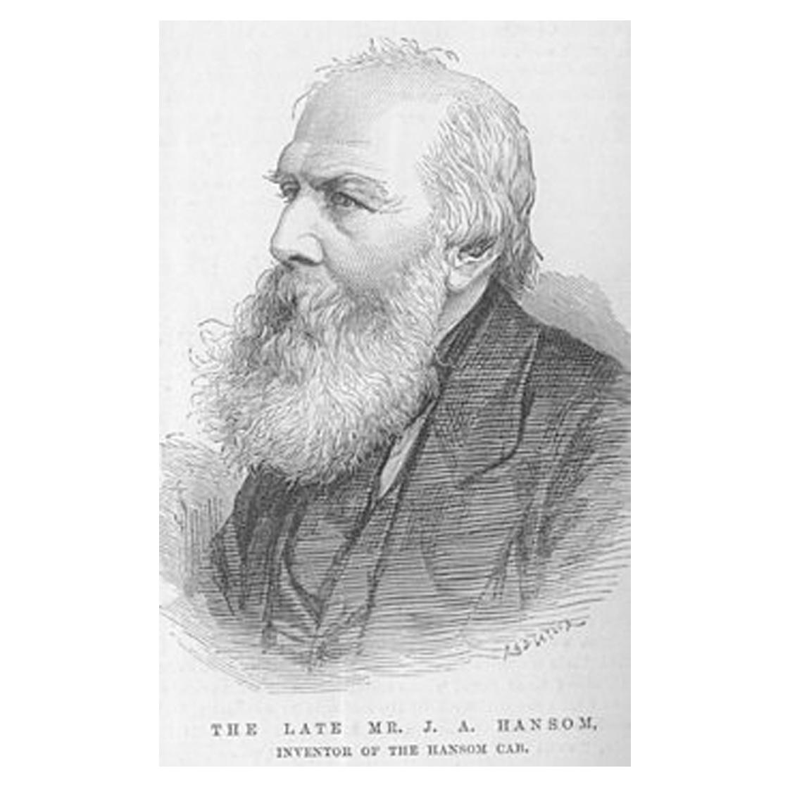 Joseph Hansom (1803-82), architect & inventor of the Hansom Cab.