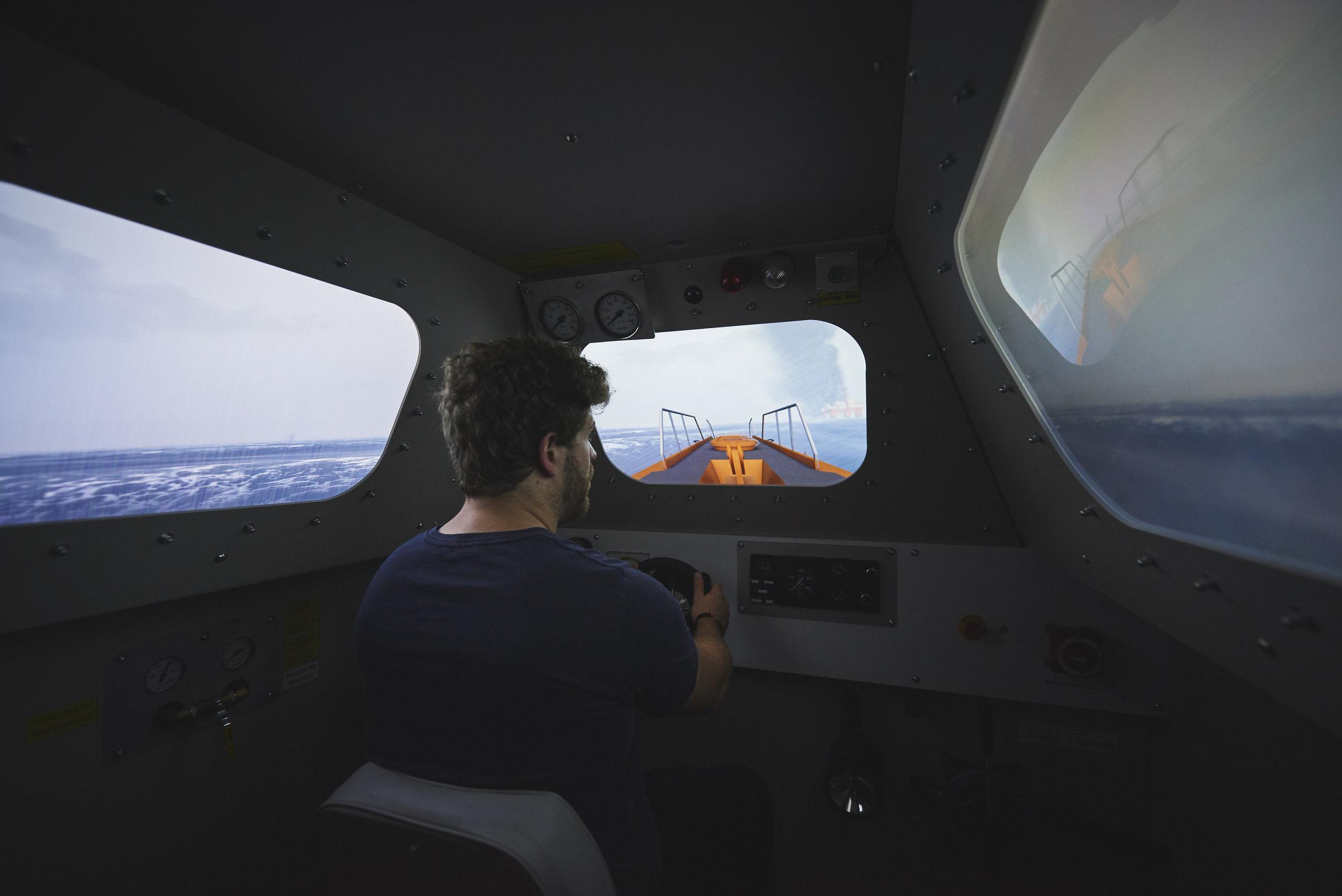 Davit Launch Lifeboat Simulator