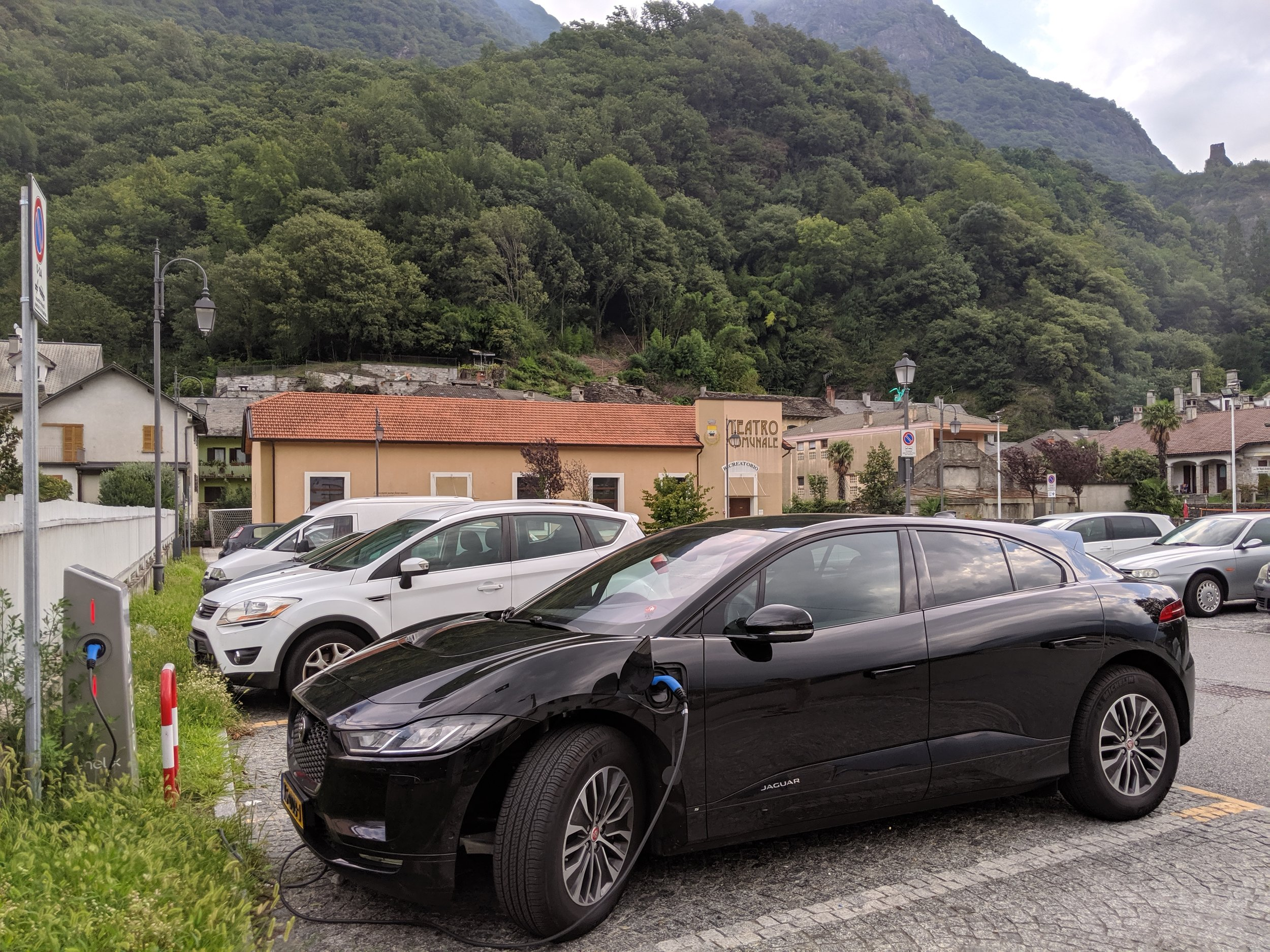 Charging up in a beautiful Italian village, Vogogna. Find the charger in the  Duferco-app.