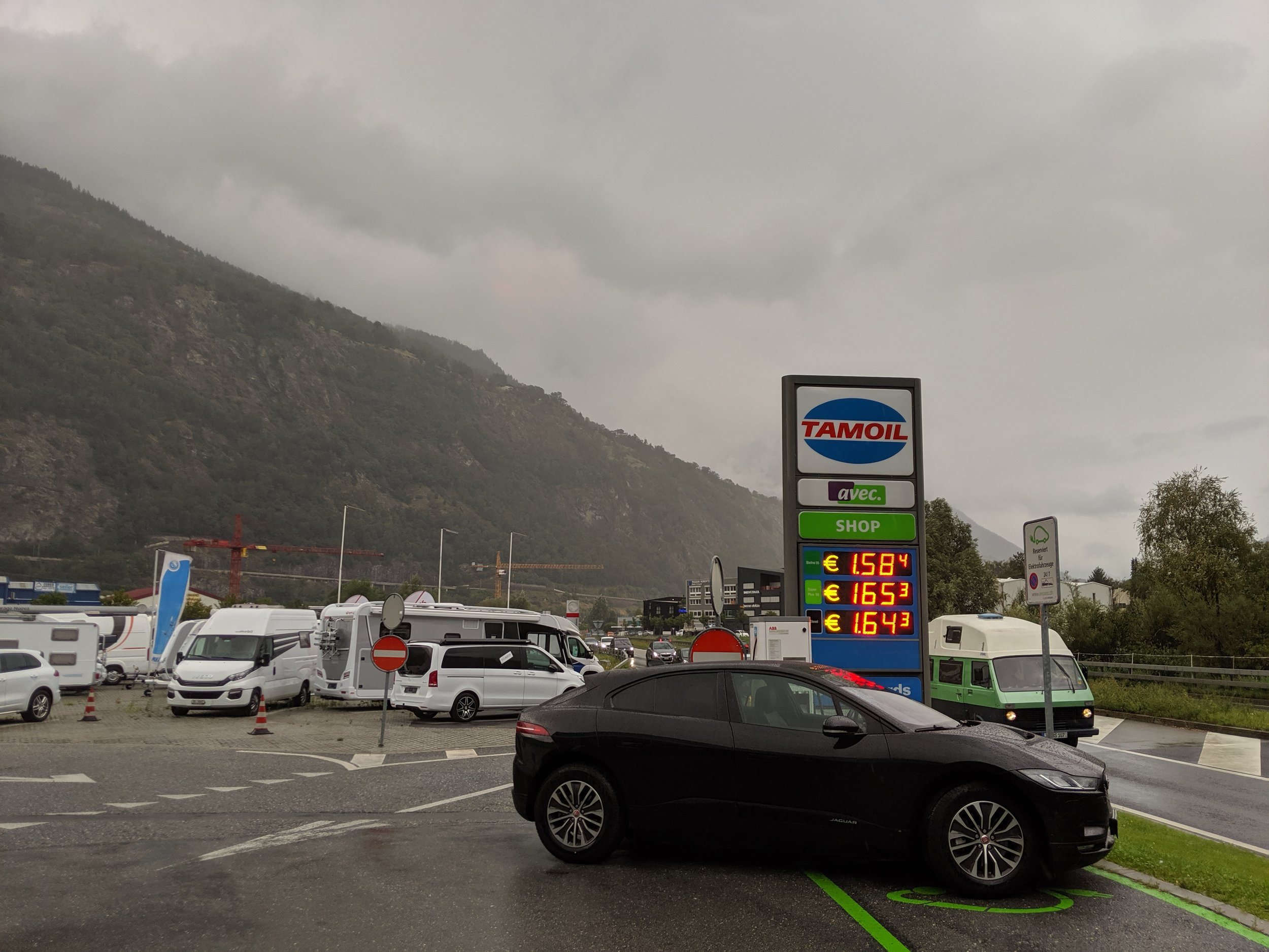 The  local Tamoil in Brig  has a perfectly working 50kW charger.