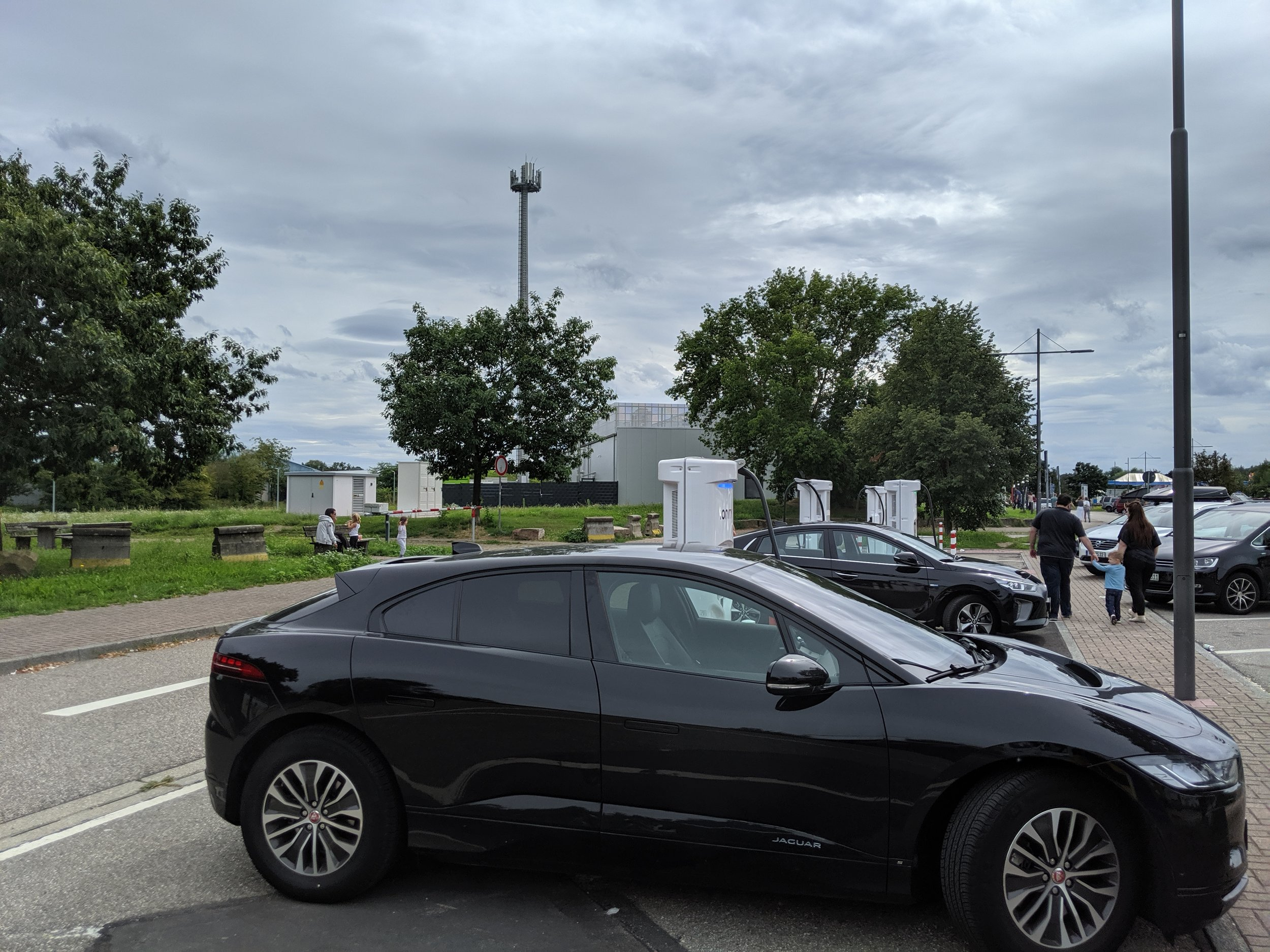 Ionity Bruchsal Ost . Another 25 minute top up. 33kWh in the pocket. On we go.