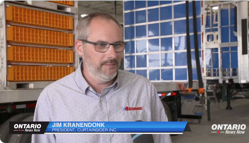 """Curtainsider Inc. president and Ontario PC donor Jim Kranendonk tells Ontario News Now cutting red tape is a """"hot issue"""" for his company."""