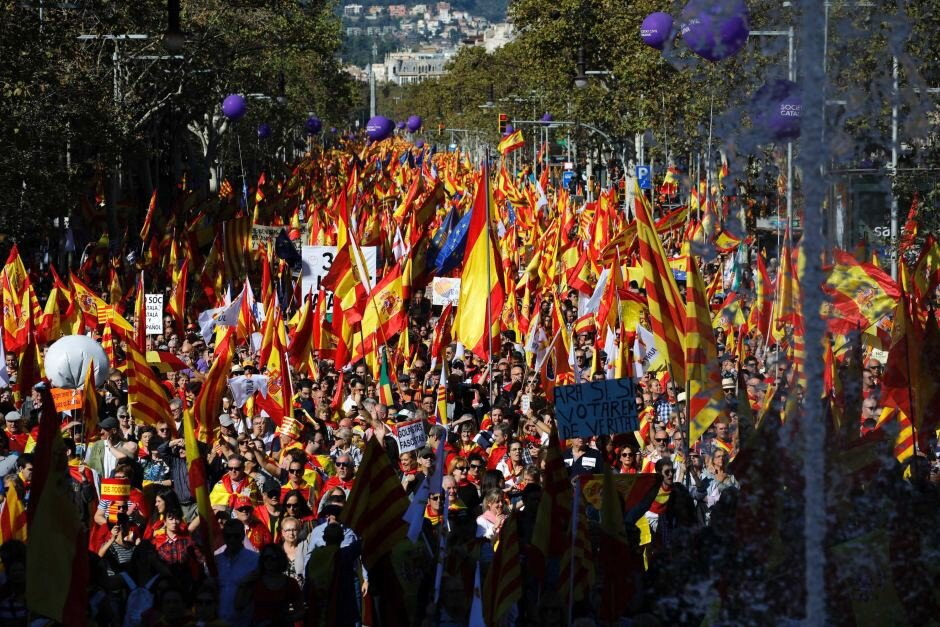 A nationalist march in Barcelona — ABC