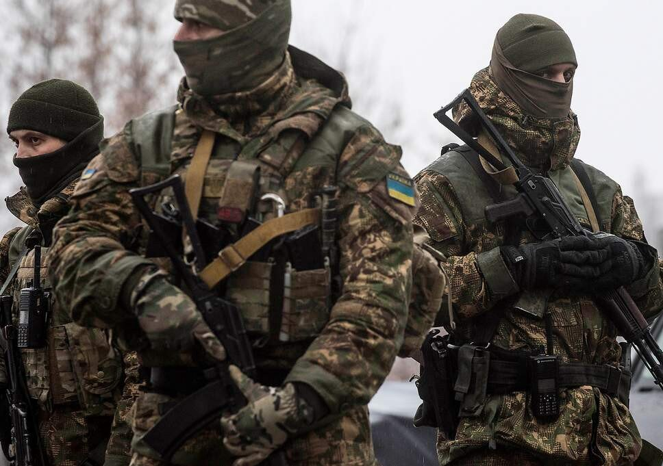 Ukrainian soldiers in Donbass — The Independent