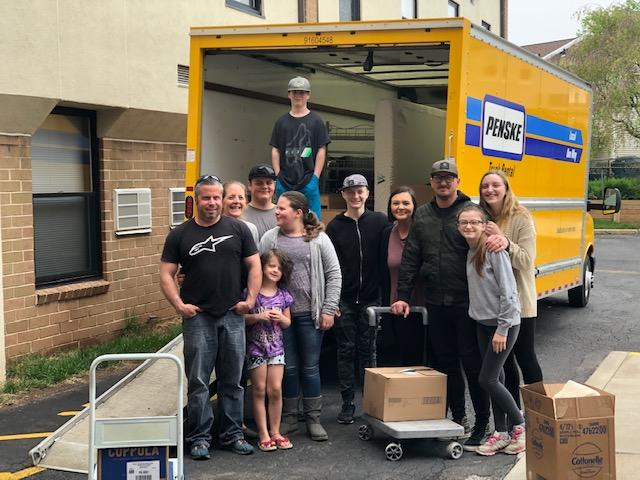 These amazing volunteers moved a client into their home. We are so thankful for them and their support!