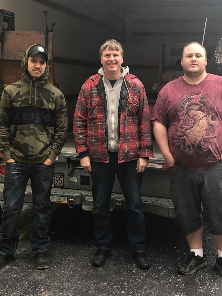 Pictured - Steve Guerra, Paul McGivney and Ron Schrader -   these three life savers helped at the last minute move a woman into her Quakertown apartment. They have helped with some crazy, long days of moving, furniture pick ups, furniture removal and plenty of event set ups.