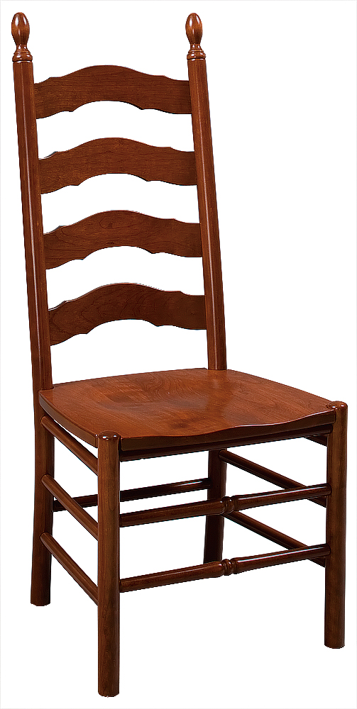 French Country Ladder Back Side Chair