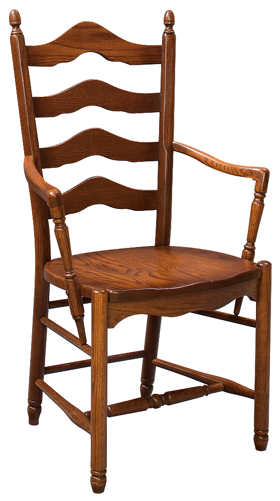 French Country Ladder Back Arm Chair