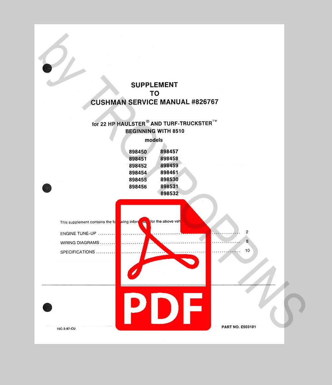 Cushman Manuals X Tremedist Com X Treme Distributing Llc
