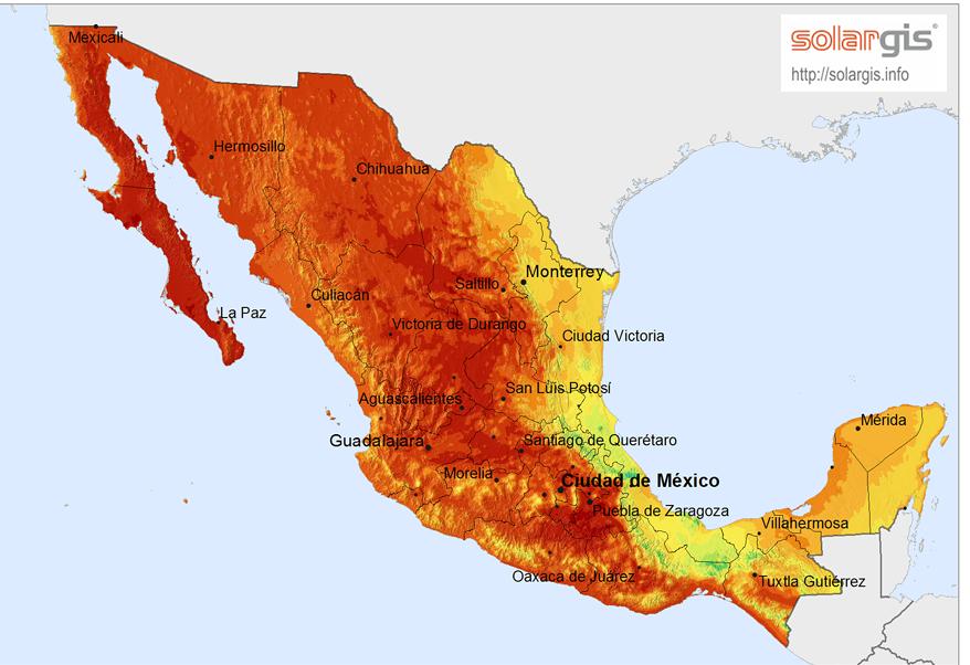 Mapa: SolarGIS