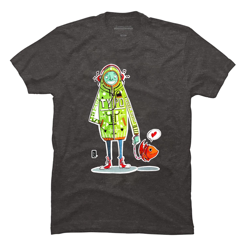 002-walking-the-goldfish-t-shirt-ink-aquarel-by-kevin-foeshel-lauryssen.png