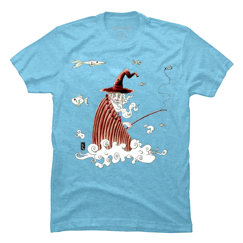 003-wizard-fishing-t-shirt-ink-aquarel-by-kevin-foeshel-lauryssen.png