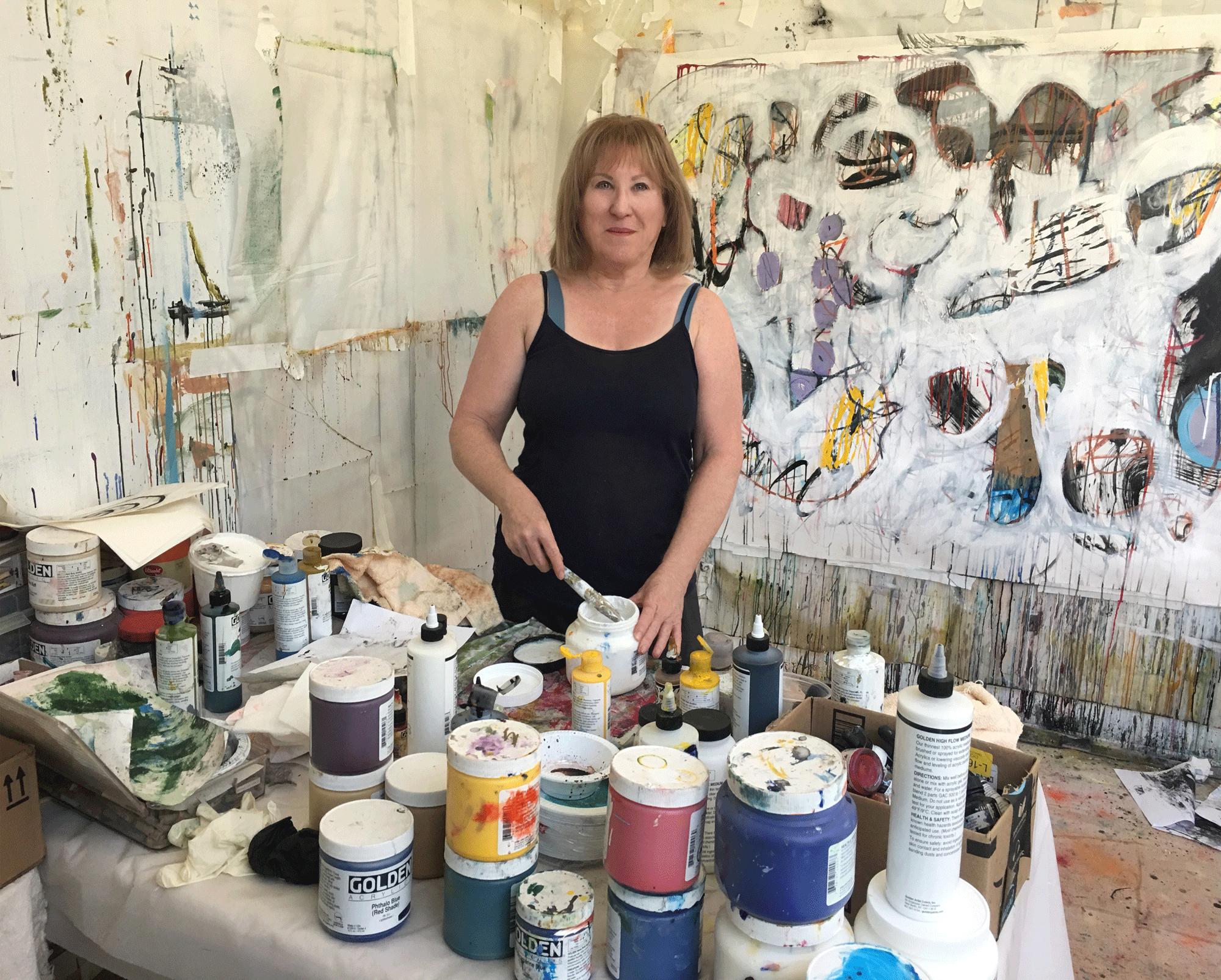 Susan in her studio in Los Angeles