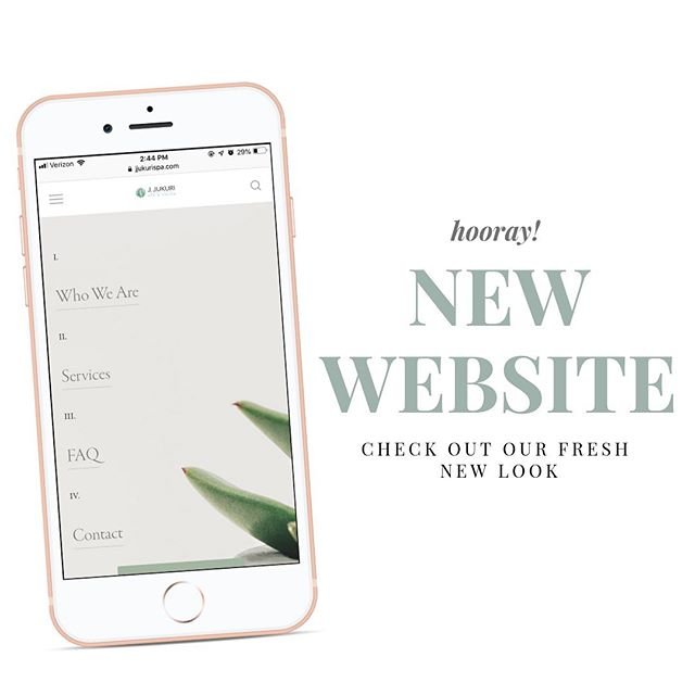 Hip, hip, HOORAY! We have a NEW website! 👏🏼 Check out the link in our bio and tell us what you think of our fresh look! 🌿✨