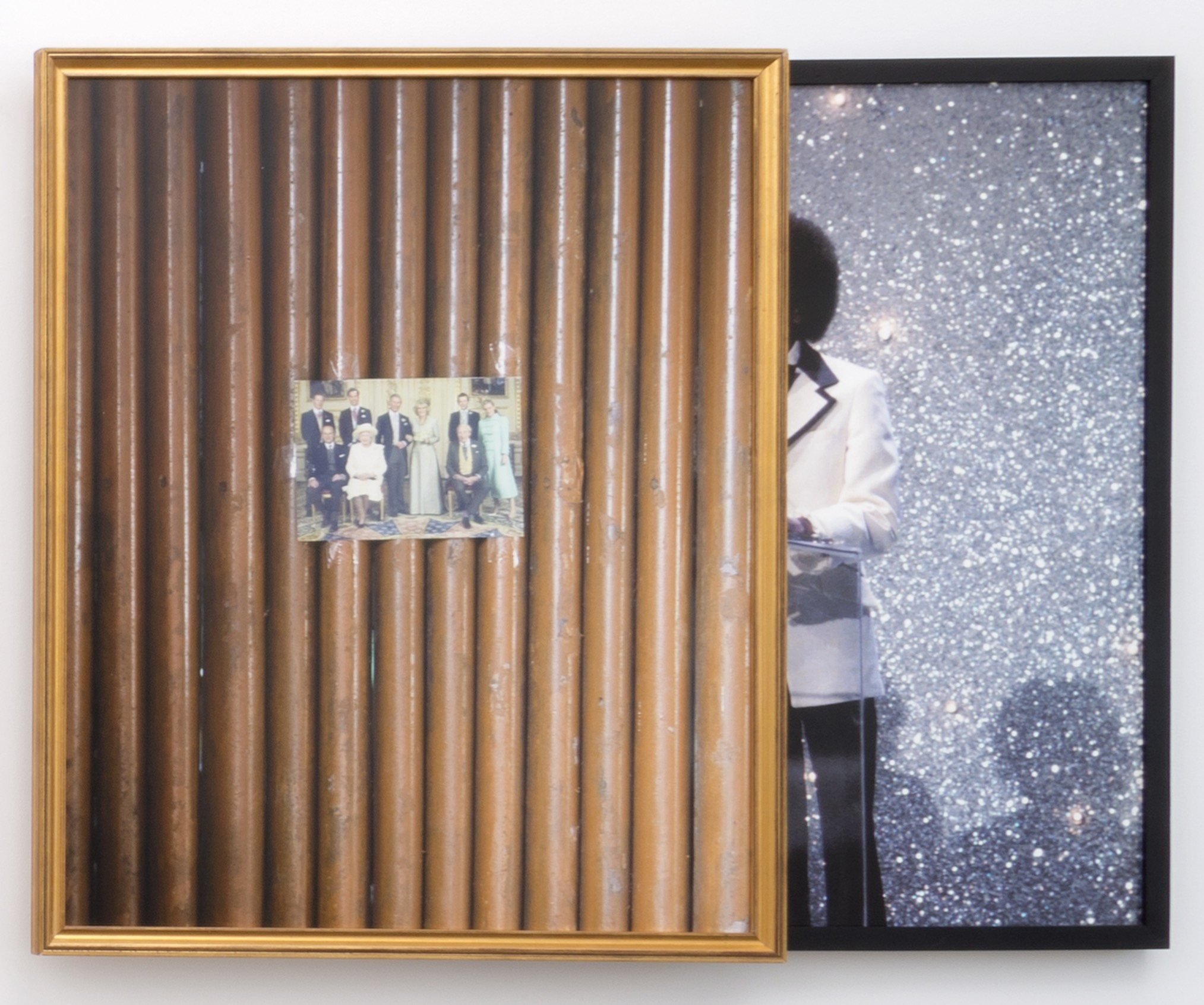 Bamboo Royals , 2014  Archival pigment prints, found antique frames // 43 x 52 x 2.75 in