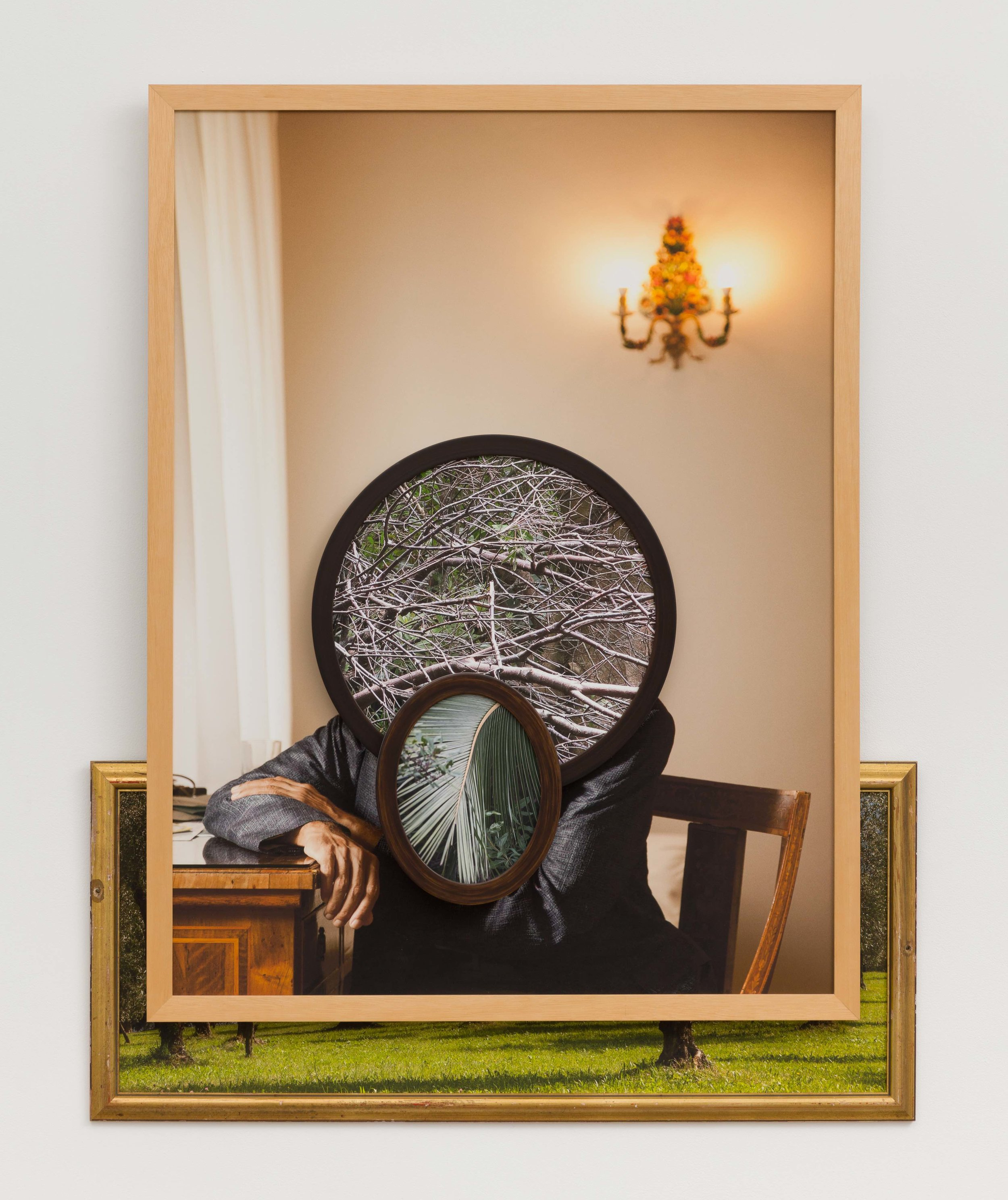 Manil,  2018  Four archival pigment prints in found frames and artist's frames and UV laminate // 47 1/4 x 37 1/4 x 3 in