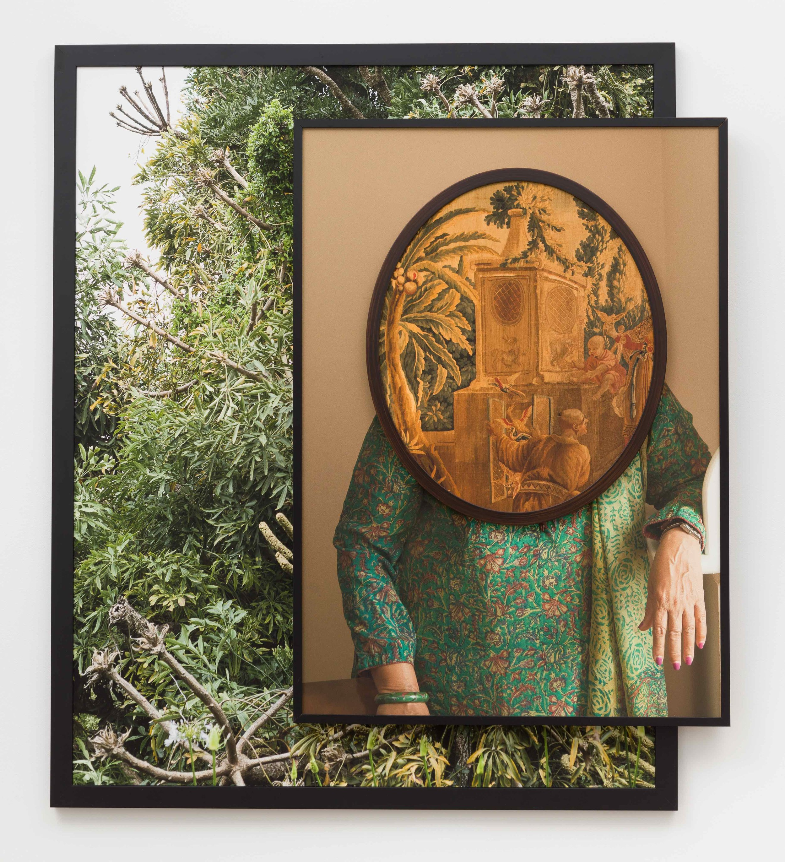 Purnima,  2018  Three archival pigment prints in found frames and artist's frames and UV laminate // 55 x 48 x 3.5 in
