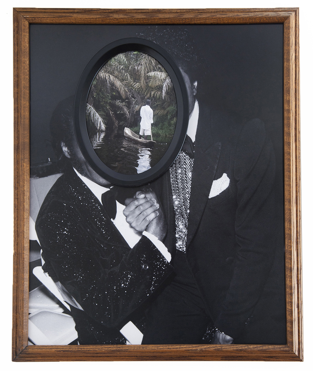 Faustian Darkness , 2014  Archival pigment prints, found antique frames // 28.75 x 26.75 x 2.5 in