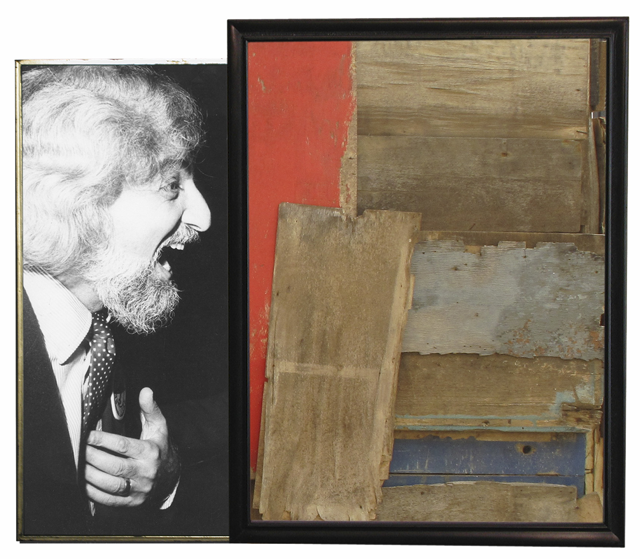 Funny Shanty,  2014  Two archival pigment prints, found antique frames // 33 1/2 x 44 x 1 1/2 in