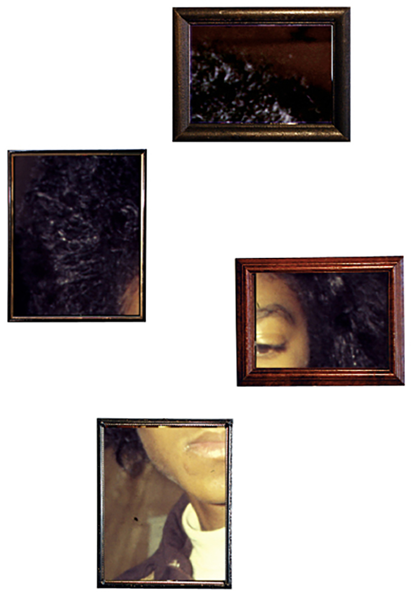 Badness , 2014  Archival pigment prints, found antique frames // 45 x 30 x 1 in