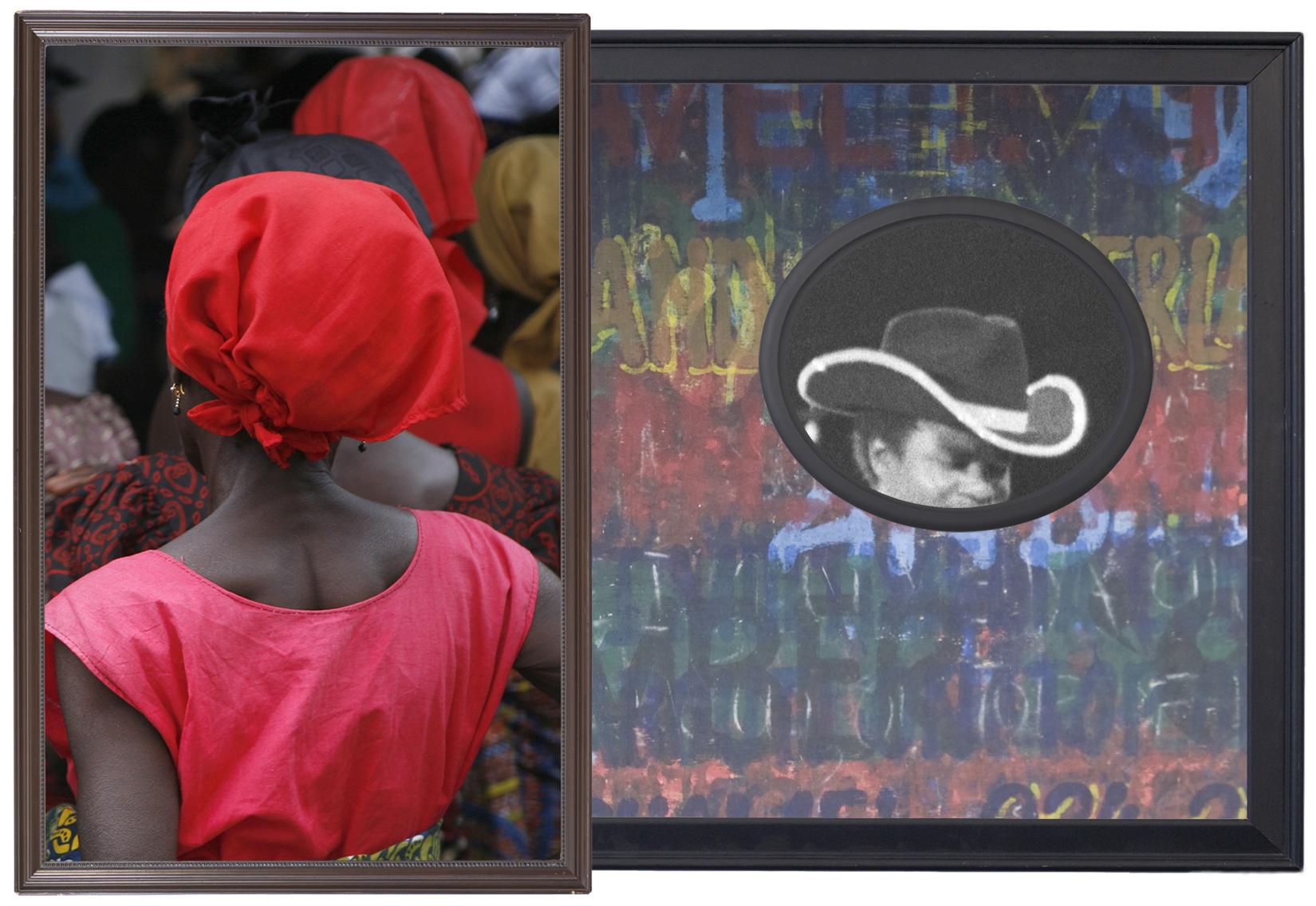 Akwidaa, Takoradi, Inglewood , 2015  Archival pigment prints, found antique frames // 46 x 70 x 2 in