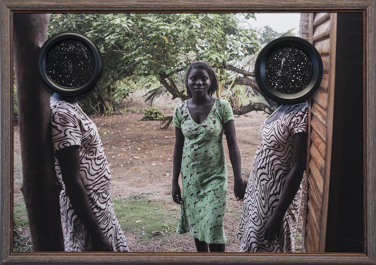 Three Women,  2015  Three archival pigment prints, antique found frames // 44 x 30 x 2 in