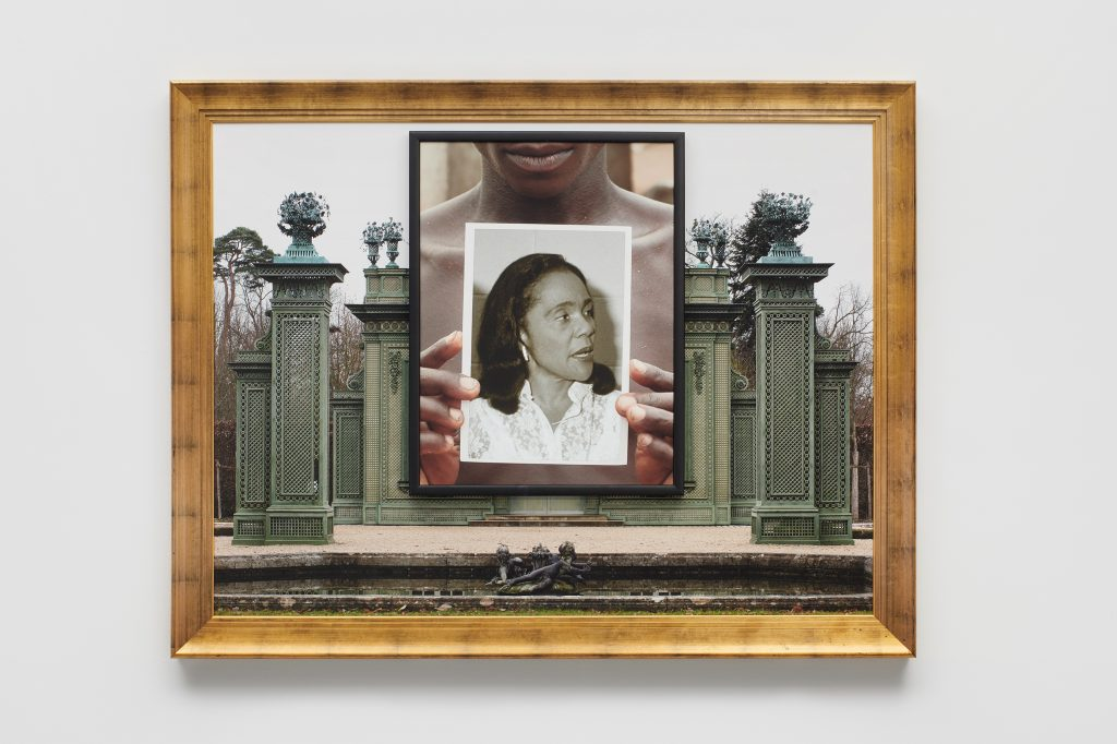 Coretta,  2019  Two archival pigment prints in artist's frames and found frames, UV laminate // 51 1/2 x 67 x 3 1/2 in