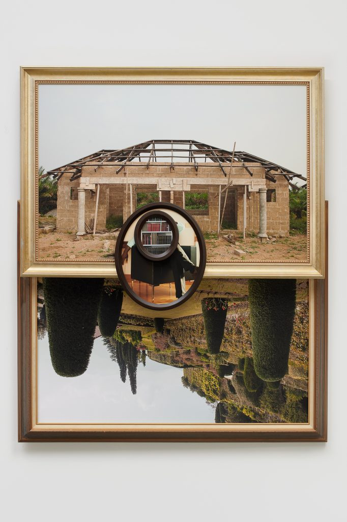 The Haunted House of Olympia (Francis),  2019  Four archival pigment prints in artist's frames, UV laminate // 66 3/8 x 54 3/4 x 5 in