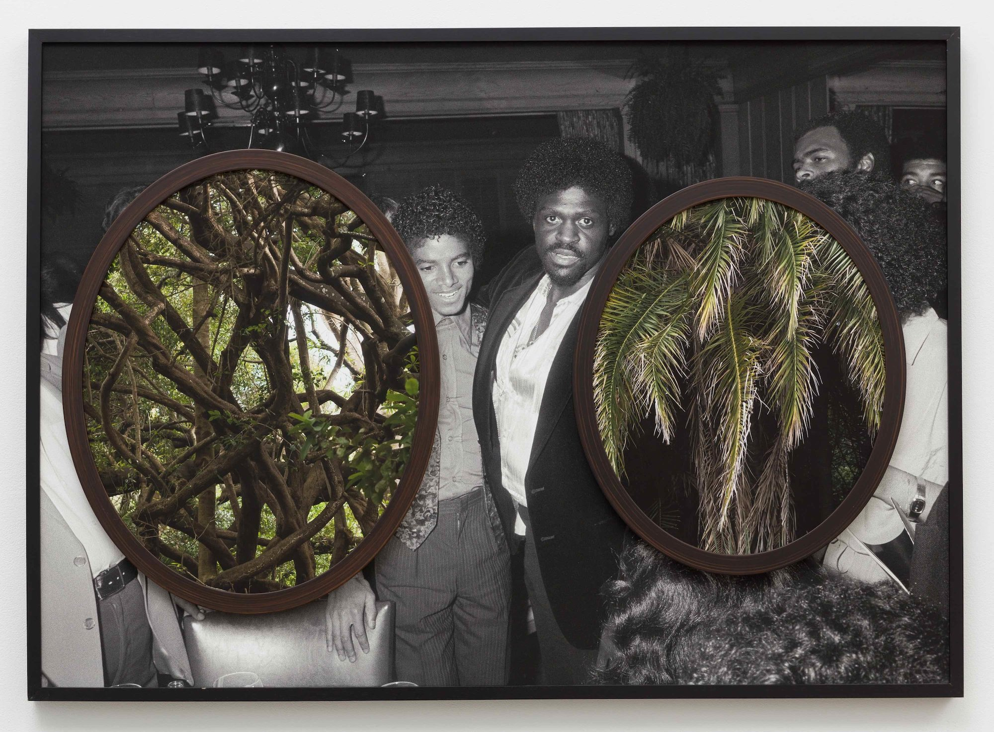 Double , 2018  Three archival pigment prints in found frames and artist's frames and UV laminate // 31 x 43 x 2 in