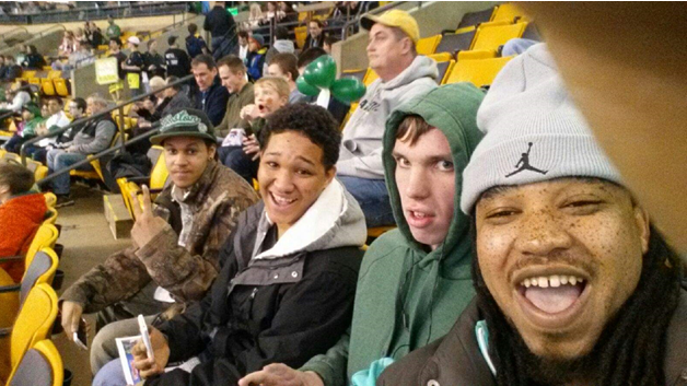Putnam Place residents at an outing to a game in TD Garden.