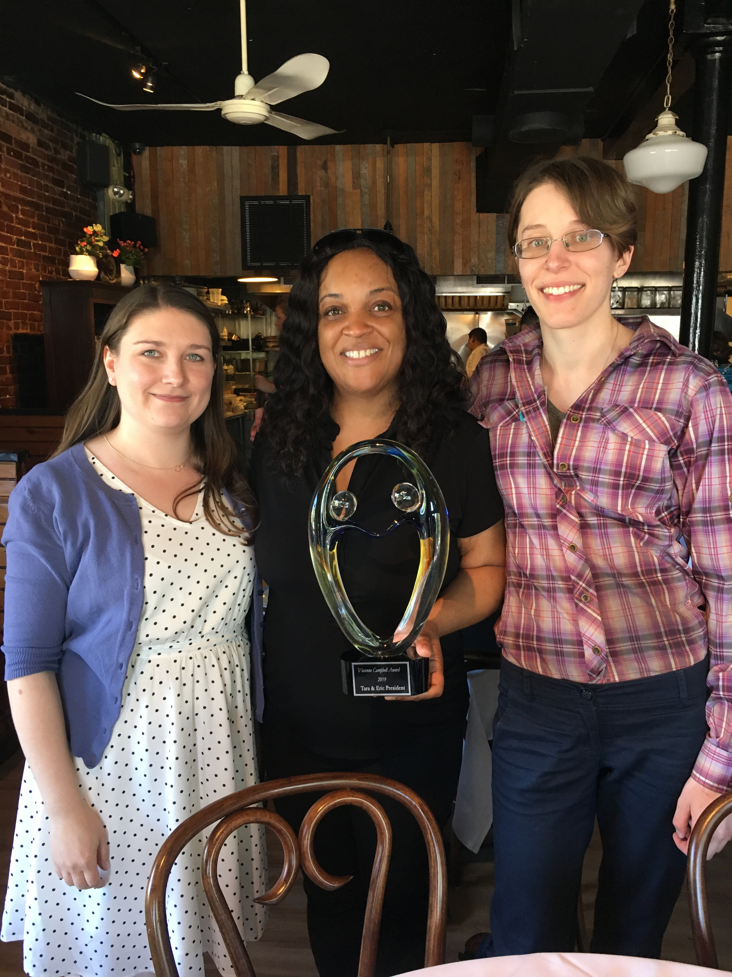 Tara President with IFC Program Director Jillian Nebesar and IFC Social Worker Hannah Bowe
