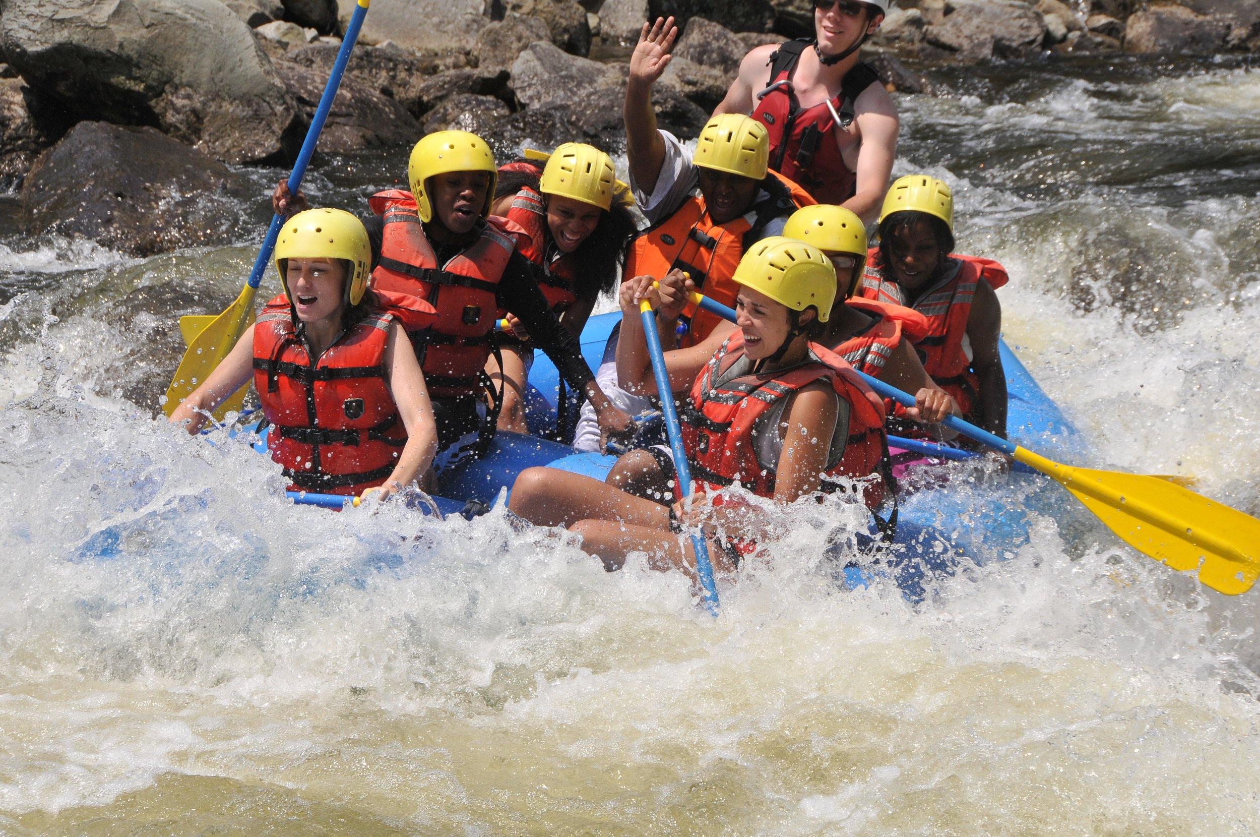 TLC Residents go on a rafting trip