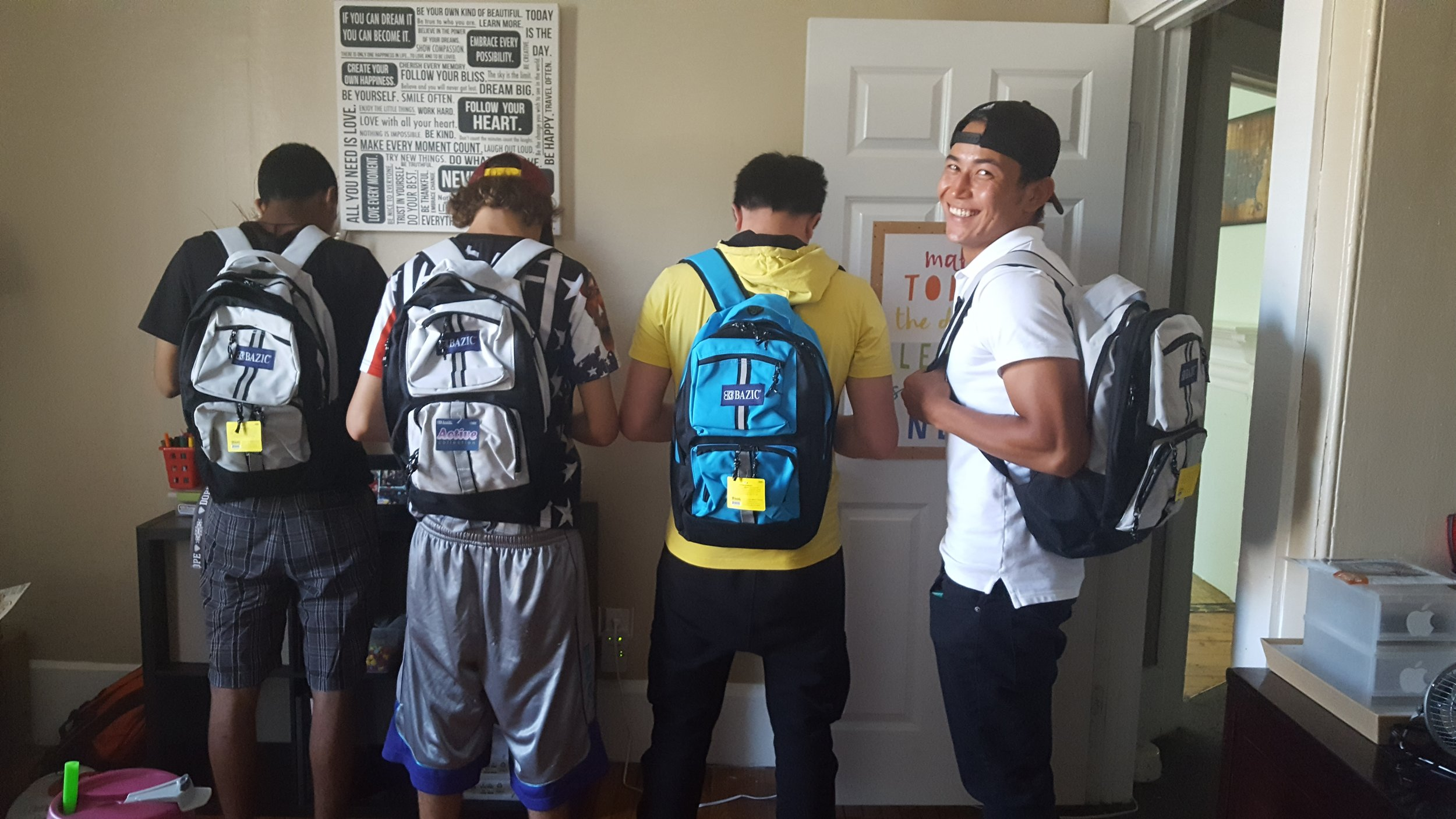 Getting ready for school at Putnam Place