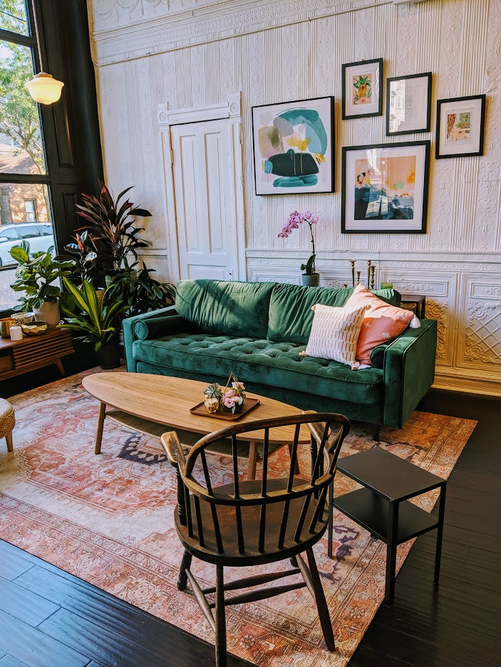 the studio at Hedonia Flowers - Come by for a wedding consultation or just to chat!We're at 2900 S Wallace St., Chicago, IL 60616