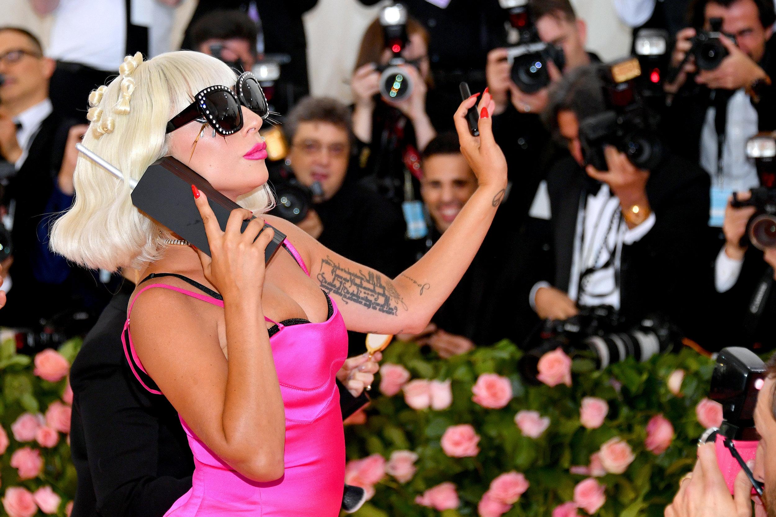 Sorry, I cannot hear you. I'm kinda busy.  @LadyGaga  with our Black Telephone.