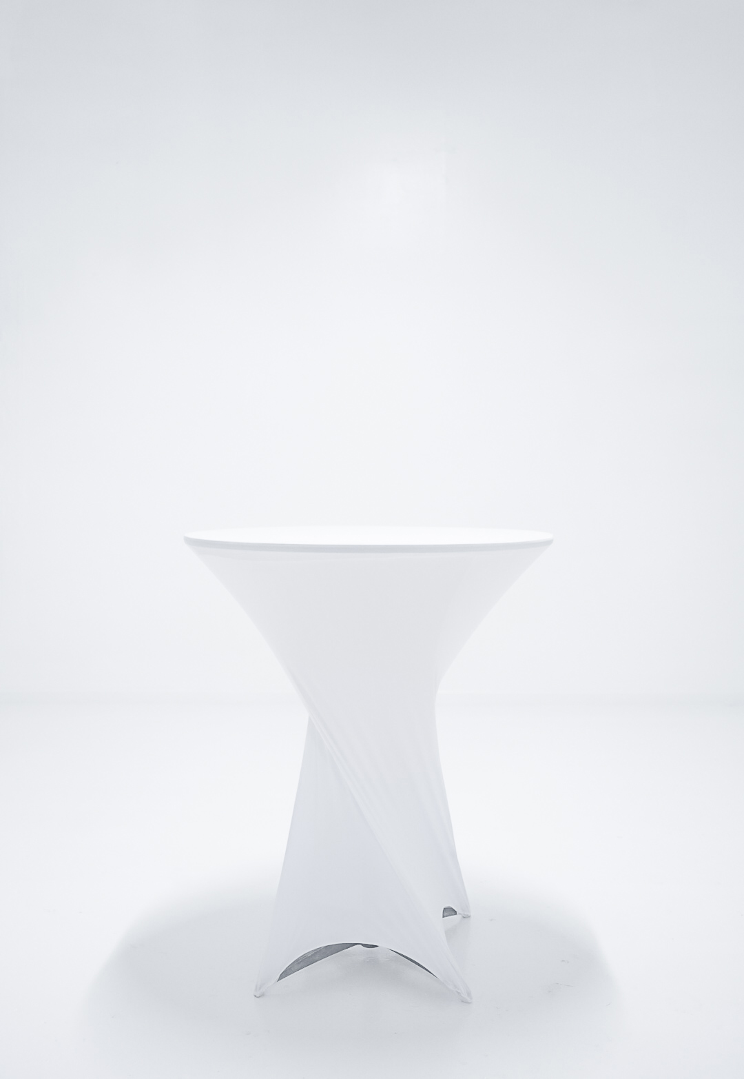 Cocktail Table with white cover - $15.00
