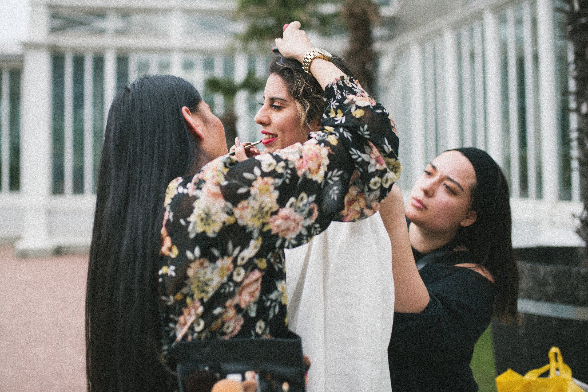 Photoshoot by Angelica Hvass at the Gothenburg Botanical Garden in Sweden. Left to right: Pernilla Tiensuwon, Lisbeth Estrada Perez and Nathali Elfström.