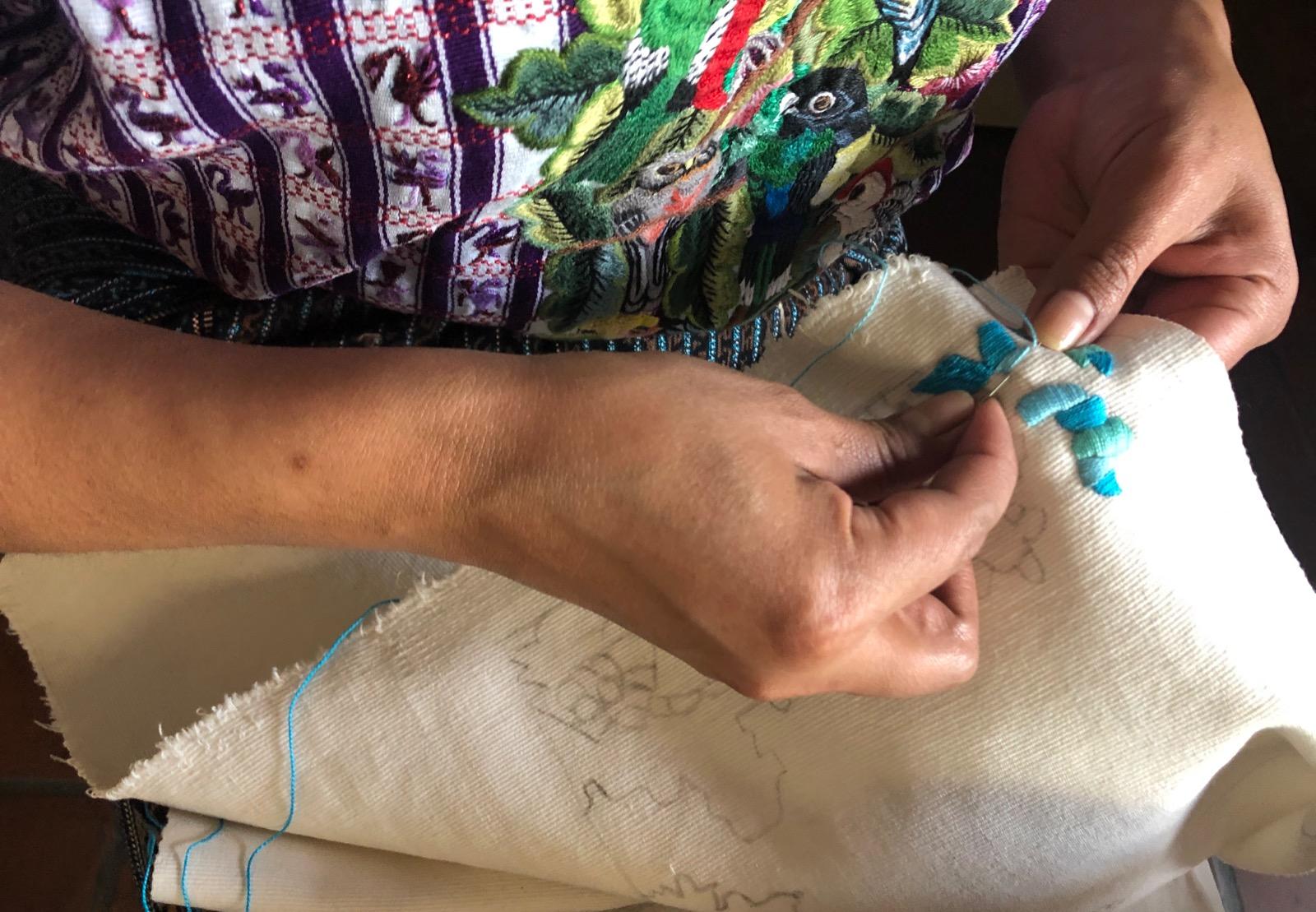 """Manos de oro"" or hands of gold - Tz'utujil weaving cooperative in Santiago Atitlán"