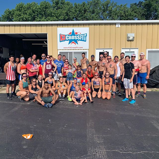 Late post from yesterday's July the 4th workout! It was a packed house! #k3strong