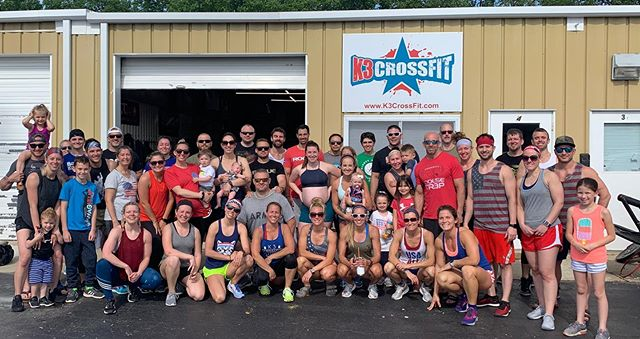 Another Memorial Day Murph in the books for @k3crossfit Thanks to everyone who came and pushed beyond their comfort zone. Easy to do when you think about the ultimate sacrifice Lt. Michael Murphy Paid for us🙌🏻 #k3strong #K3fit #america #murph #freedom