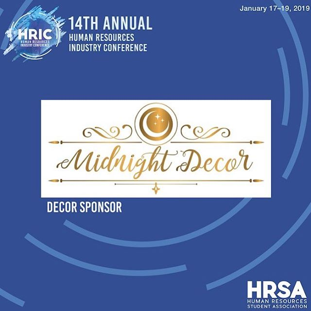 A special thank you to our decor sponsor, @midnight_decor1 for providing us with beautiful decor at our conference! Contact Midnight Decor at midnight.decor1@gmail.com for your next event! 🌸🎉 #HRIC2019