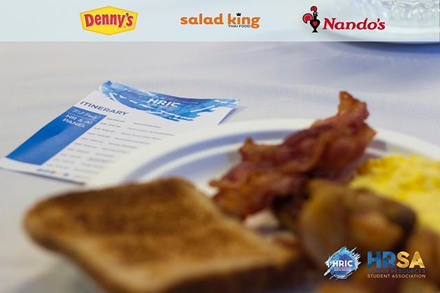 Thank you to all of our food sponsors for supplying our delegates with delicious and nutritious meals throughout the conference! 😋 We appreciate your support and sponsorship! @dennysdiner @saladkingto @nandoscanada #HRIC2019